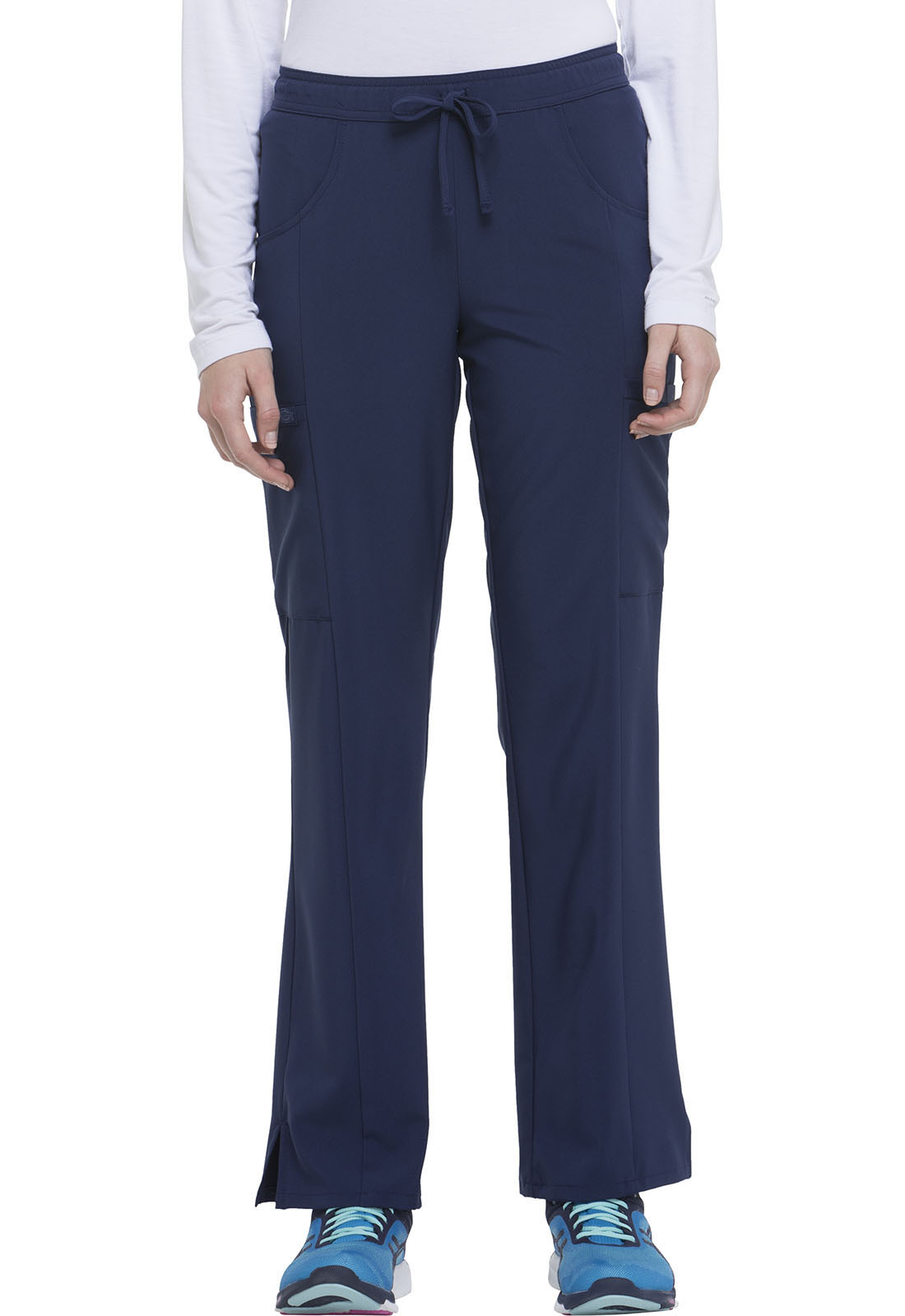 814bfcf6e8f EDS Essentials Mid Rise Straight Leg Drawstring Pant in Navy DK010T ...