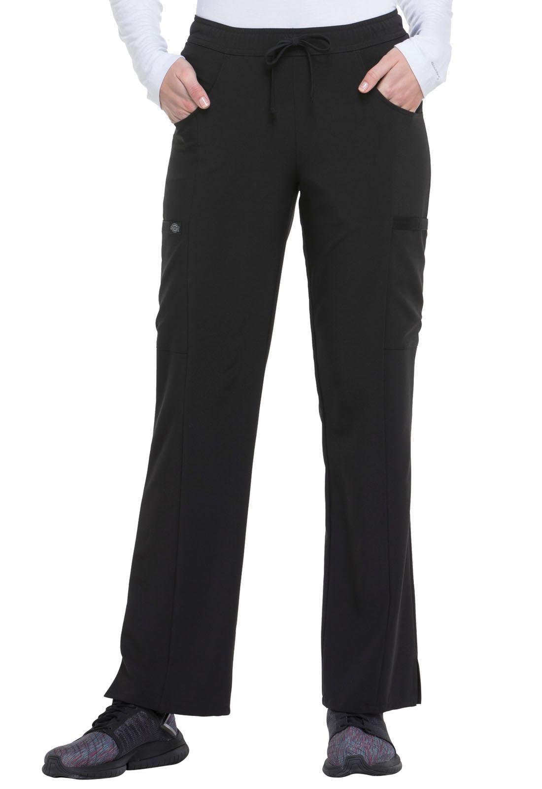 876076fefc1 EDS Essentials Mid Rise Straight Leg Drawstring Pant in Black DK010 ...