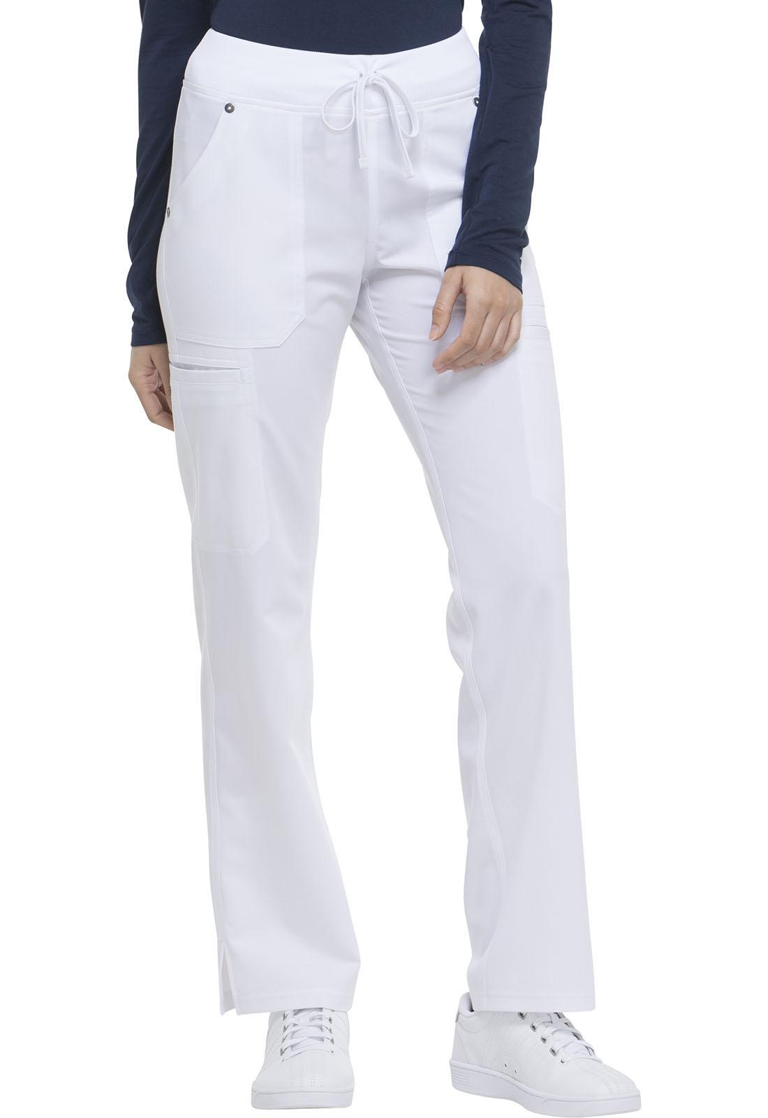 27b4ed6d1cd Xtreme Stretch Mid Rise Rib Knit Waistband Pant in White DK020P-DWHZ ...
