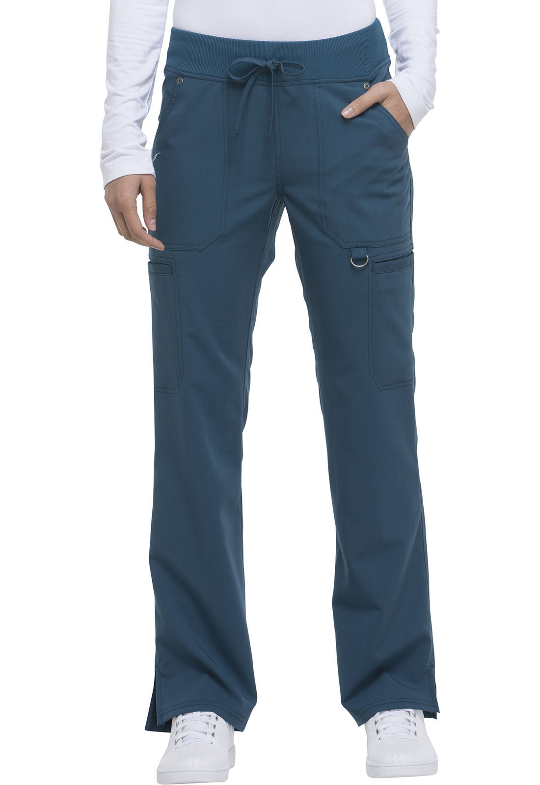 fe868192044 Dickies Xtreme Stretch Mid Rise Rib Knit Waistband Pant in Caribbean ...