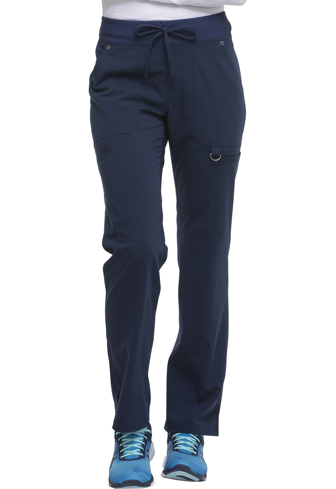 6e45865522e Dickies Xtreme Stretch Mid Rise Rib Knit Waistband Pant in D-Navy ...