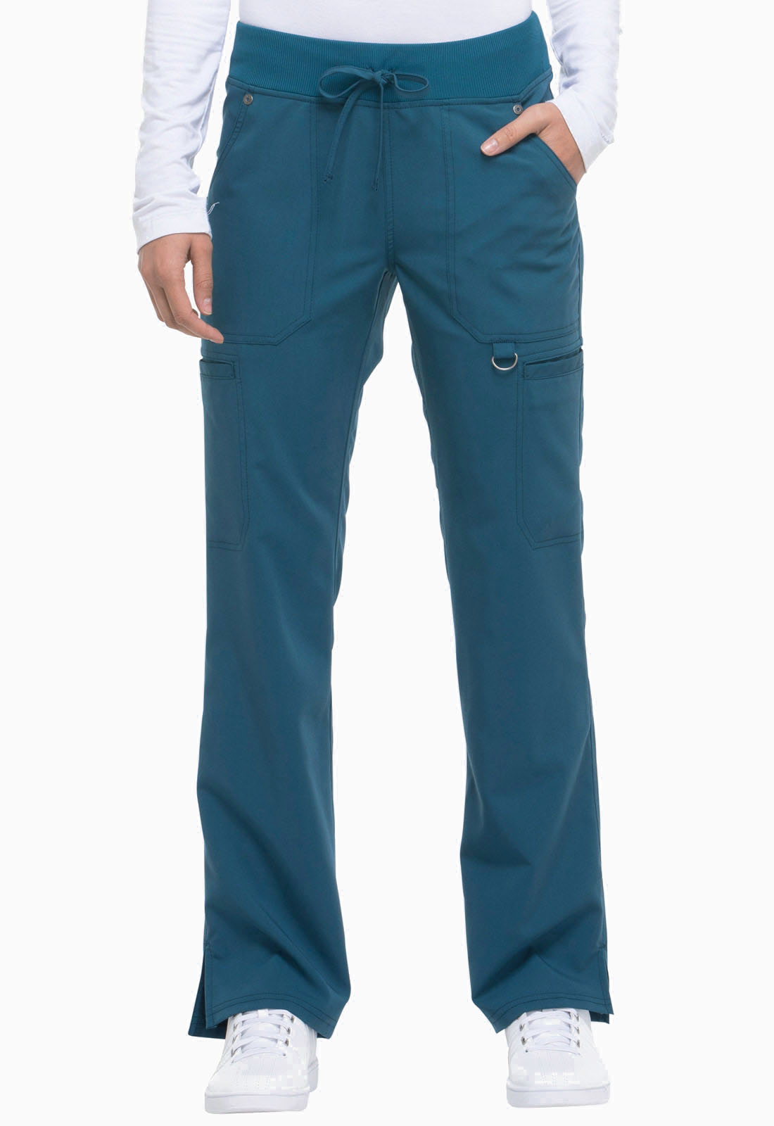 bc68665feb4 Dickies Xtreme Stretch Mid Rise Rib Knit Waistband Pant in Caribbean ...