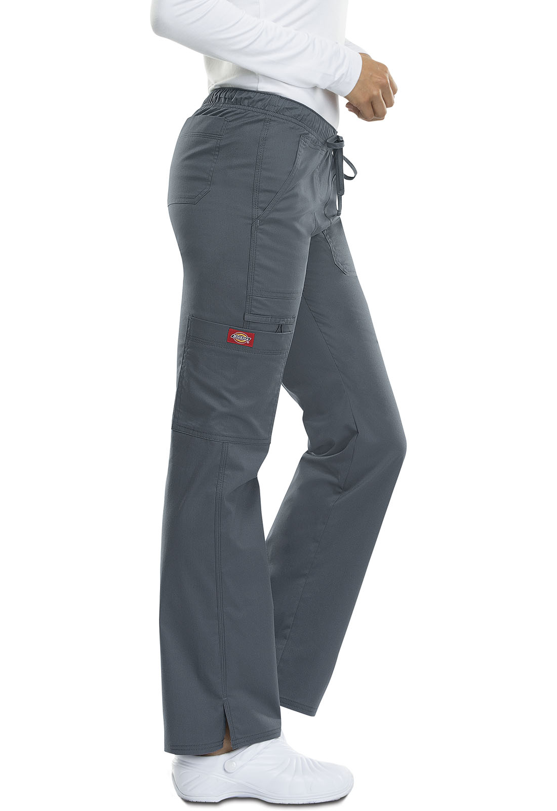 0b9f342767f Dickies Gen Flex Low Rise Straight Leg Drawstring Pant in Light Pewter