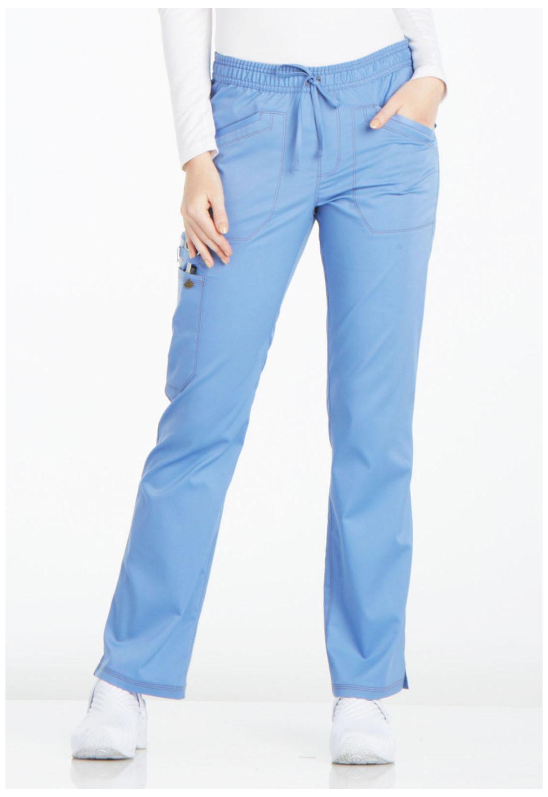 f042eda5525 Essence Mid Rise Straight Leg Drawstring Pant in Ciel Blue DK106P ...