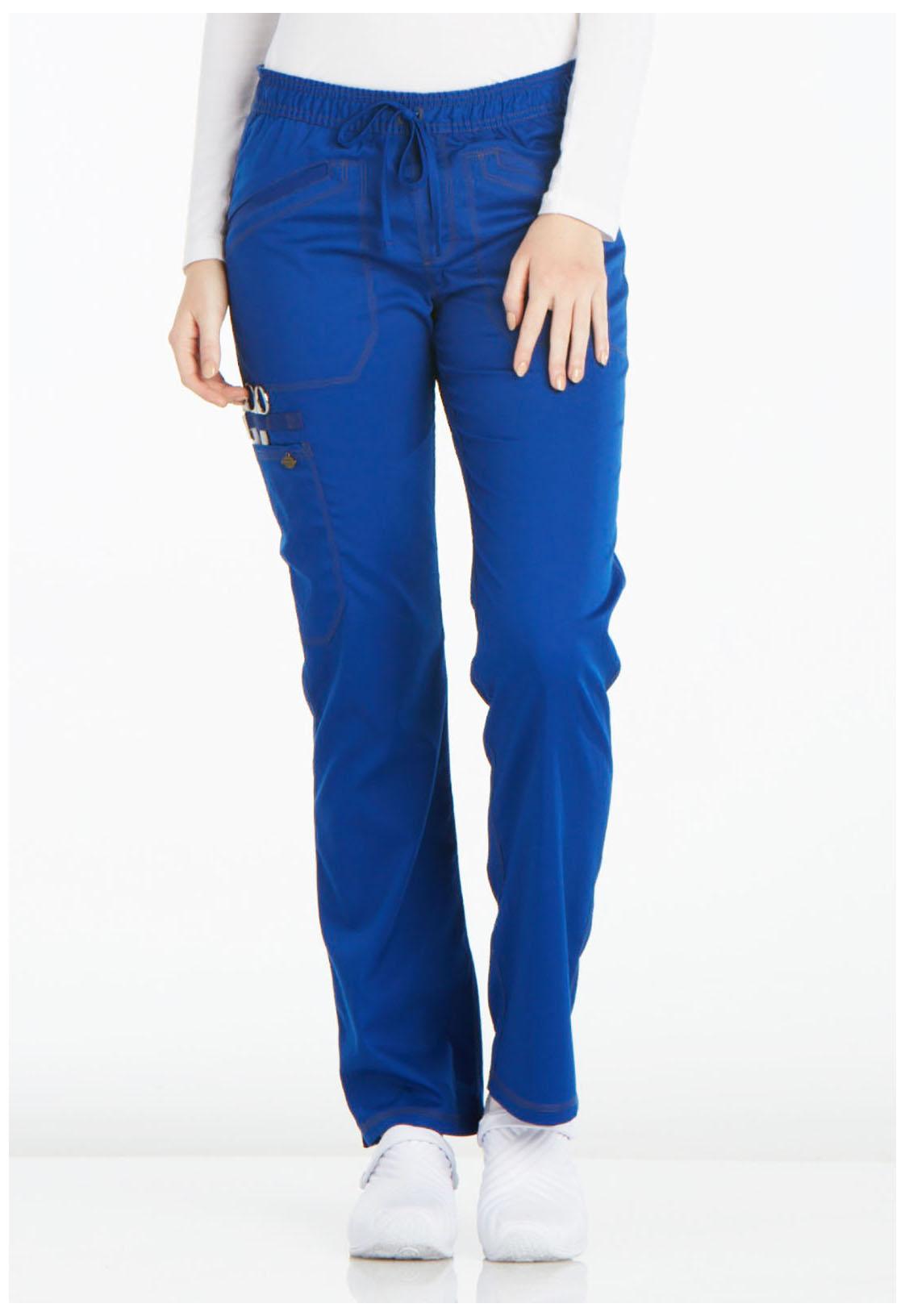 972b09c0f0b Essence Mid Rise Straight Leg Drawstring Pant in Galaxy Blue DK106P ...