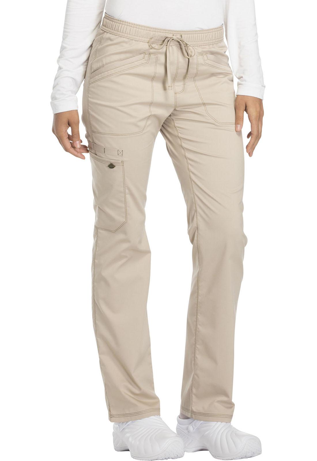 61704297070 Essence Mid Rise Straight Leg Drawstring Pant in Khaki DK106P-KAK ...