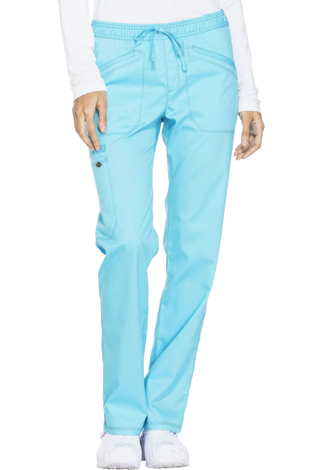 7f337b8efbf Dickies Essence Mid Rise Straight Leg Drawstring Pant in Turquoise ...