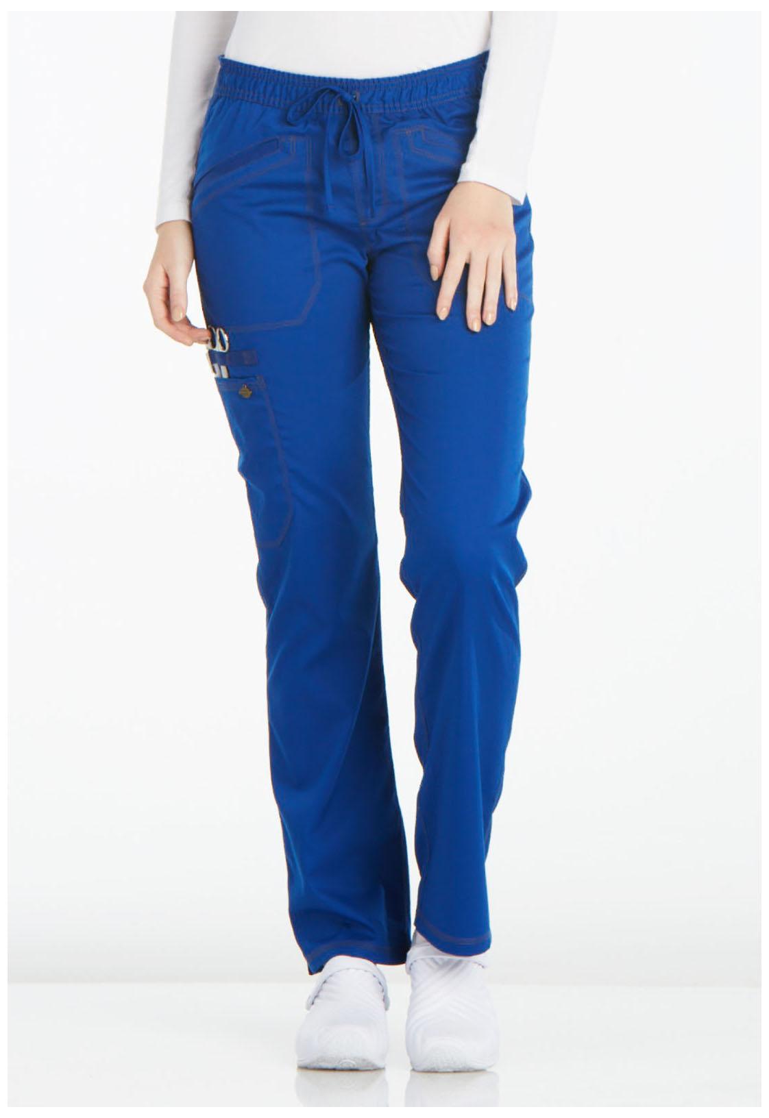 42ab85411a2 Essence Mid Rise Straight Leg Drawstring Pant in Galaxy Blue DK106 ...