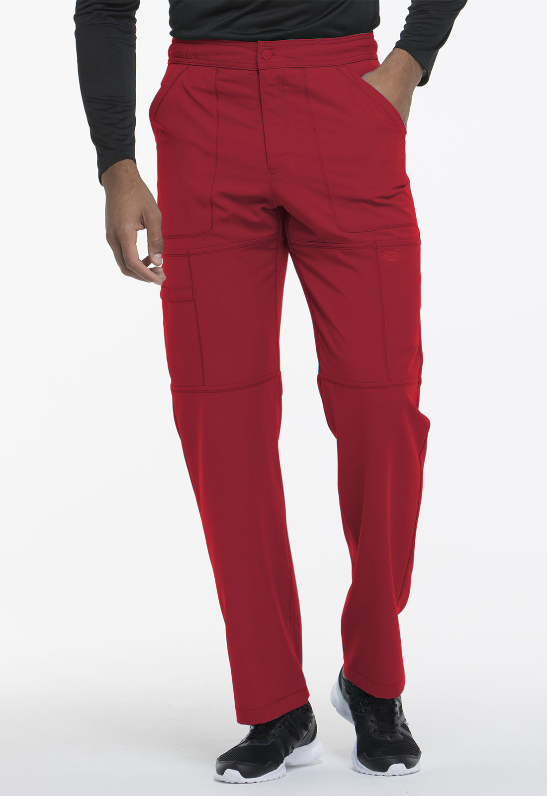 19be6dde8bd Dynamix Men's Zip Fly Cargo Pant in Red DK110S-RED from Scrubs Express