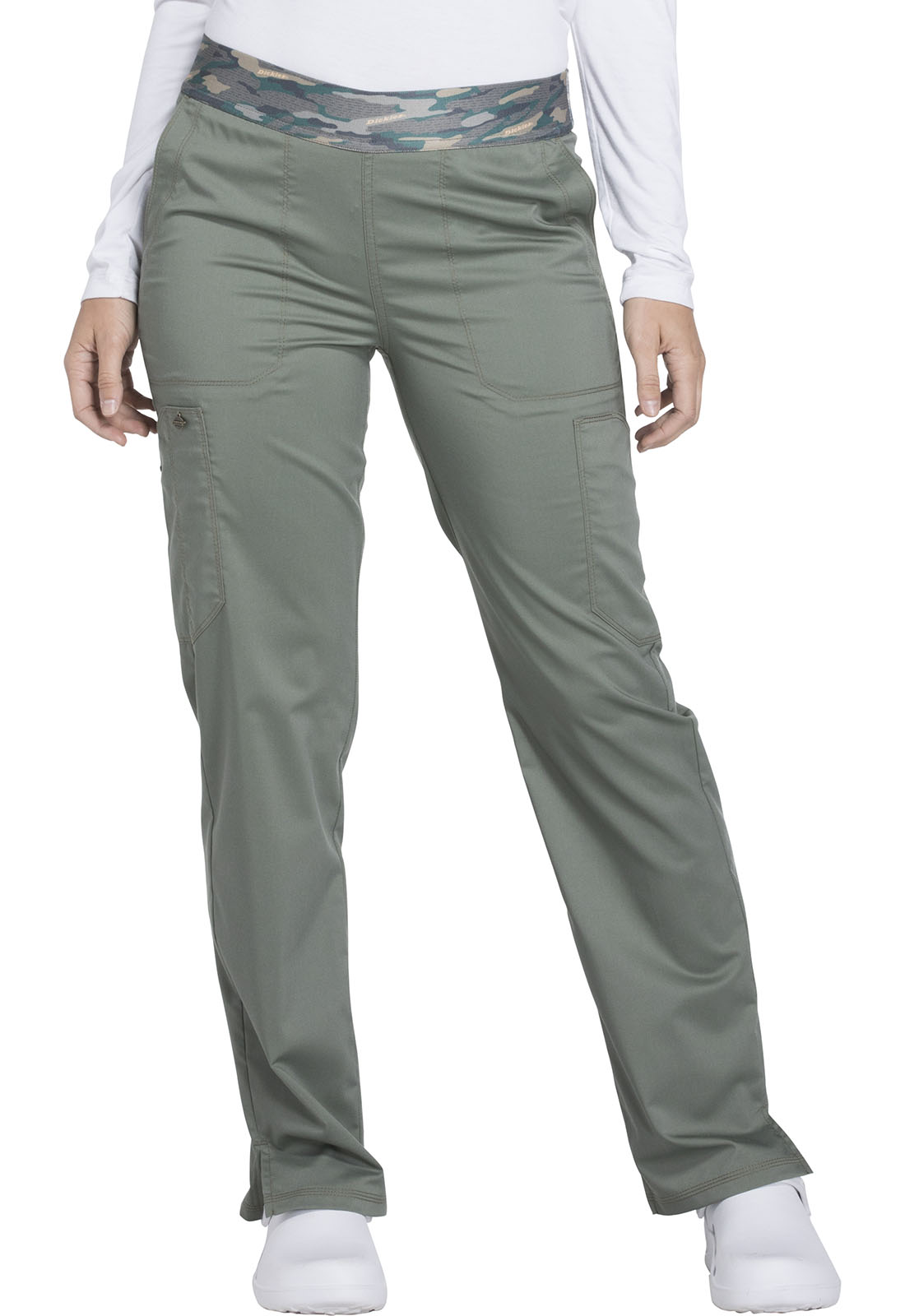 41dcadbef6 Dickies Essence Women's Mid Rise Tapered Leg Pull-on Pant Green