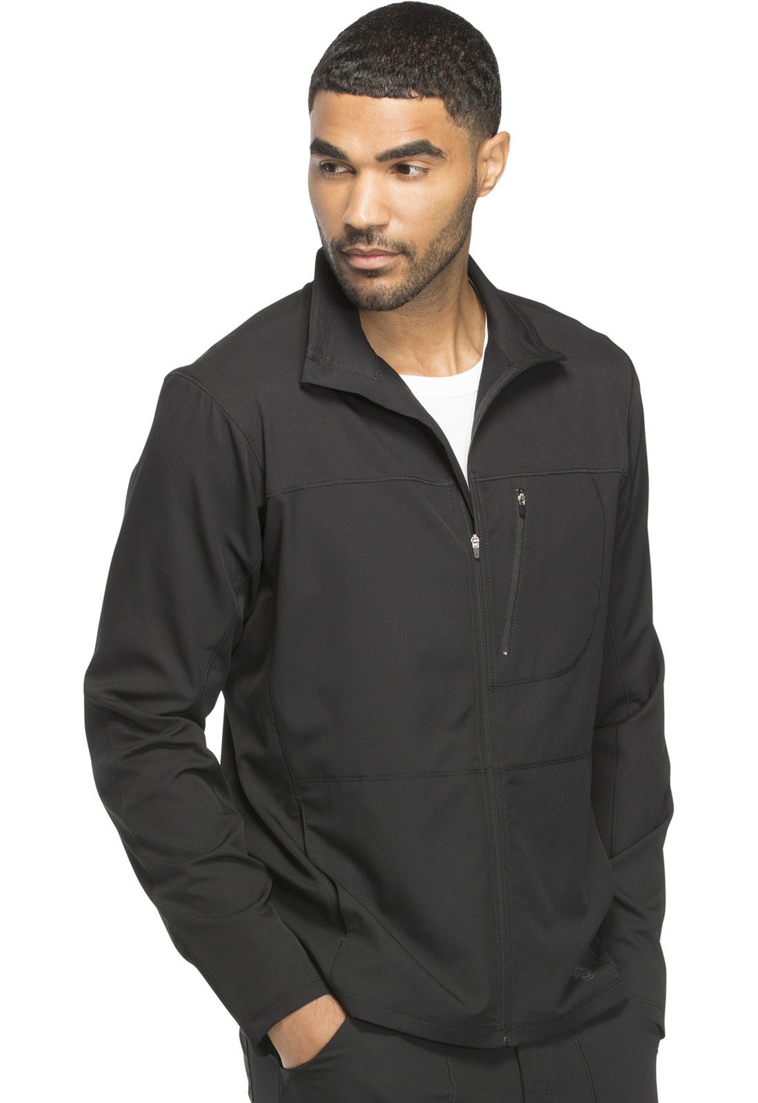 c7c988d81 Dickies Men's Zip Front Warm-up Jacket (Regular) in Black from Dickies  Medical