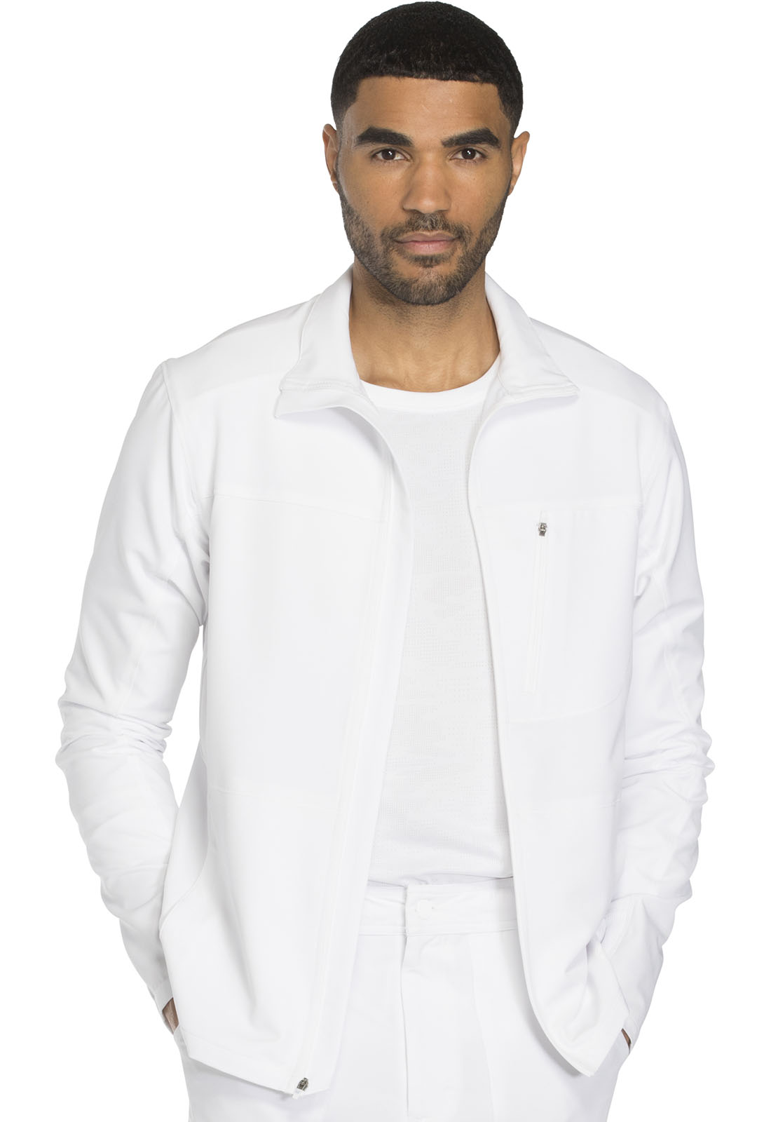 819a2ce64b0 Dickies Dynamix Men's Zip Front Warm-up Jacket in White from Dickies ...