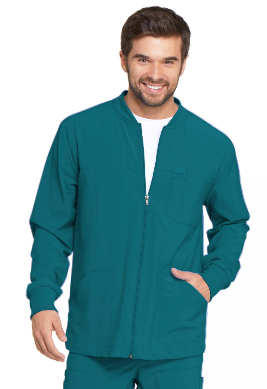 eb1c2cc72e5 EDS Essentials Men's Zip Front Warm-Up Jacket in Caribbean Blue ...
