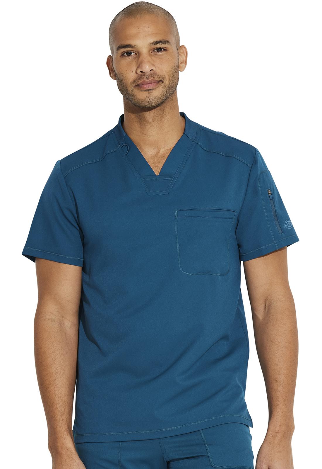 sprzedawca hurtowy naprawdę wygodne uznane marki Dickies Men's V-Neck Top (Regular) in Caribbean Blue from Dickies Medical