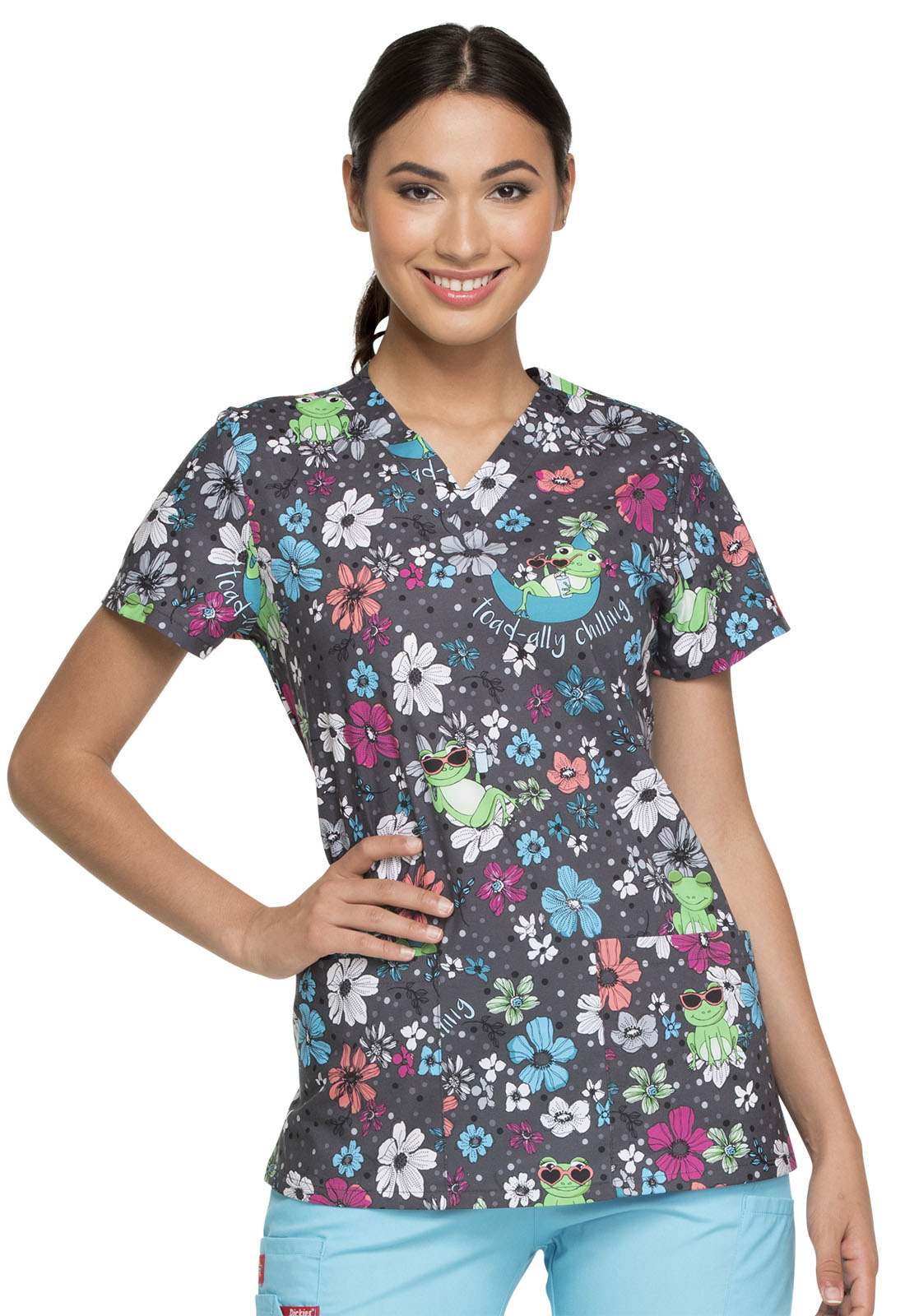 9ee5e26217e Dickies Dickies Prints V-Neck Top in Toad-ally Chilling from Dickies ...