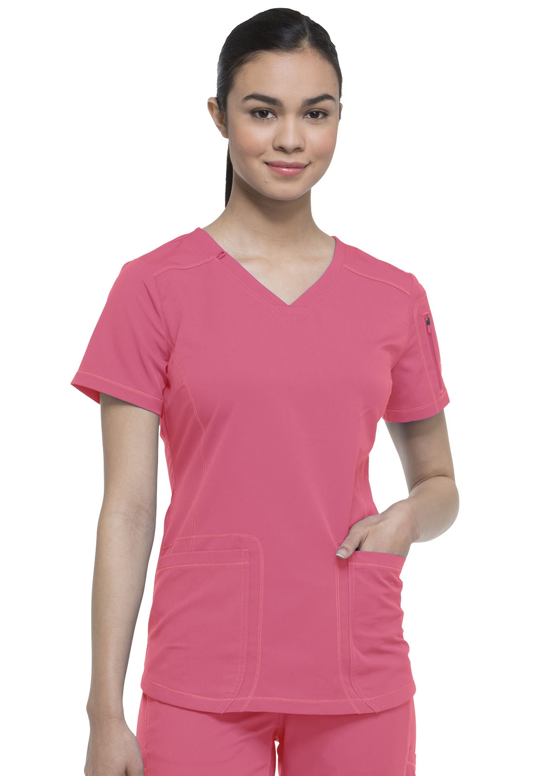 2f0ea780782 Dickies Dynamix V-Neck Top in Desert Sunset from Dickies Medical