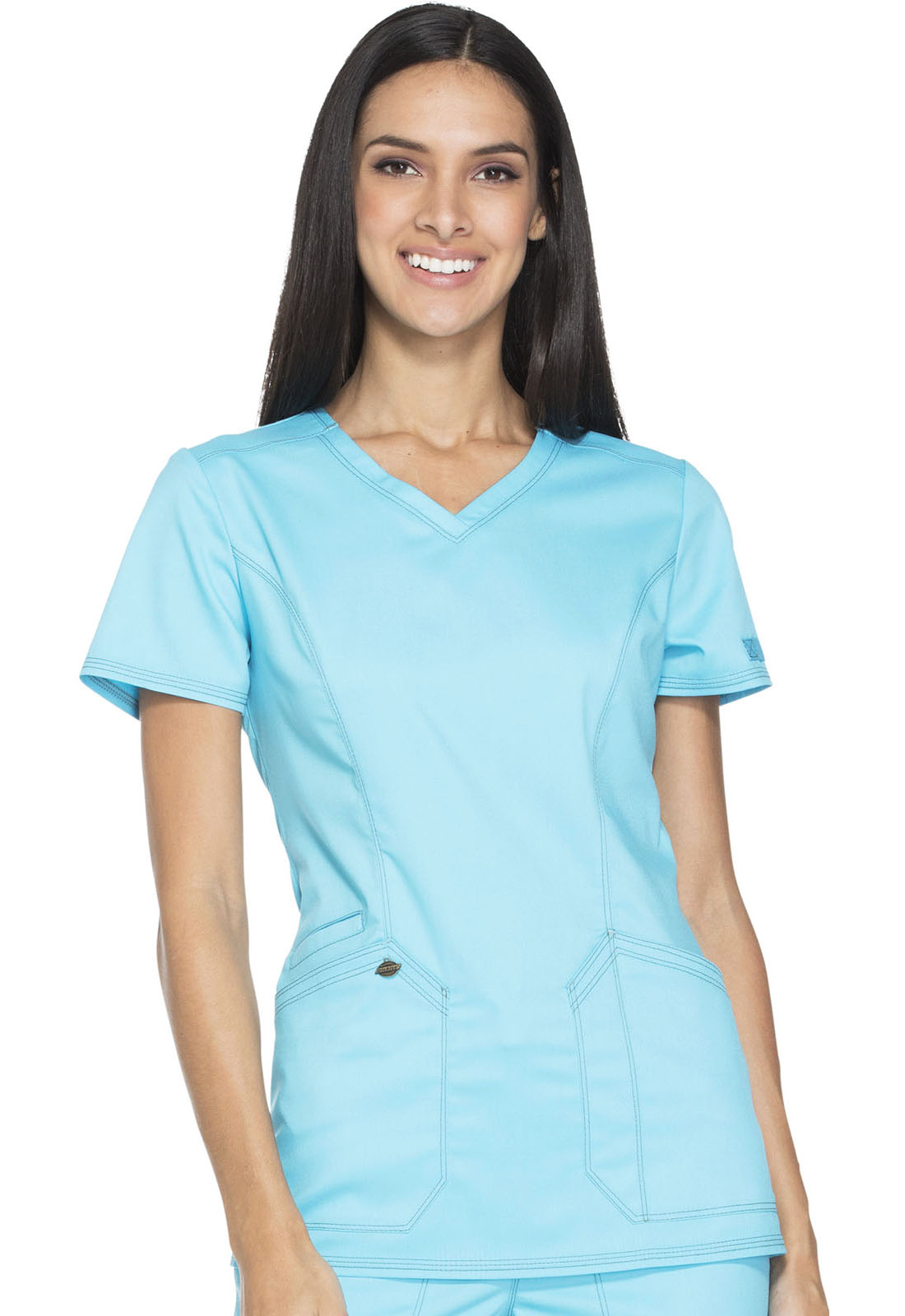 90aab956 Dickies Essence V-Neck Top DK803-TRQ from ScrubFit Quality Medical ...