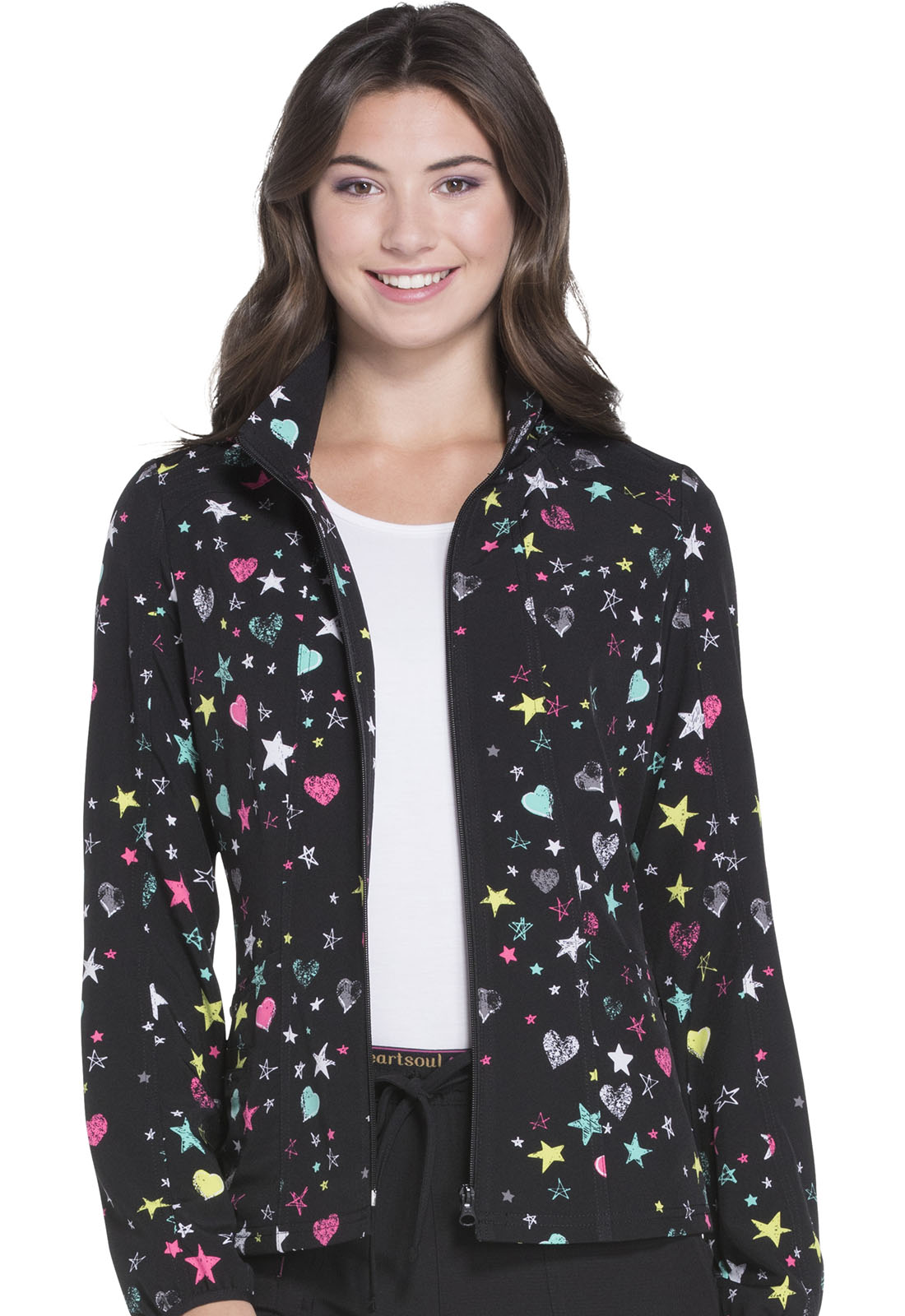 5a8ac207369 HeartSoul Prints Zip Front Jacket in All Star Love HS301-ASLV from ...