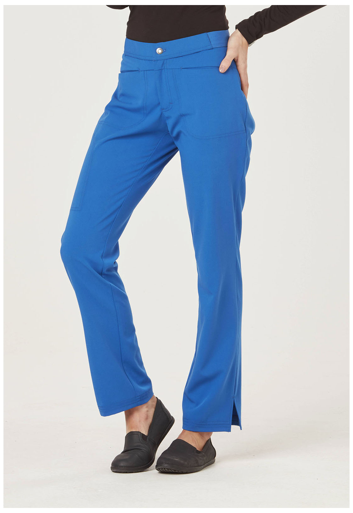 Sapphire u0026quot;Romau0026quot; Low Rise Zip Fly Slim Pant SA101A-ROY from Sapphire Scrubs