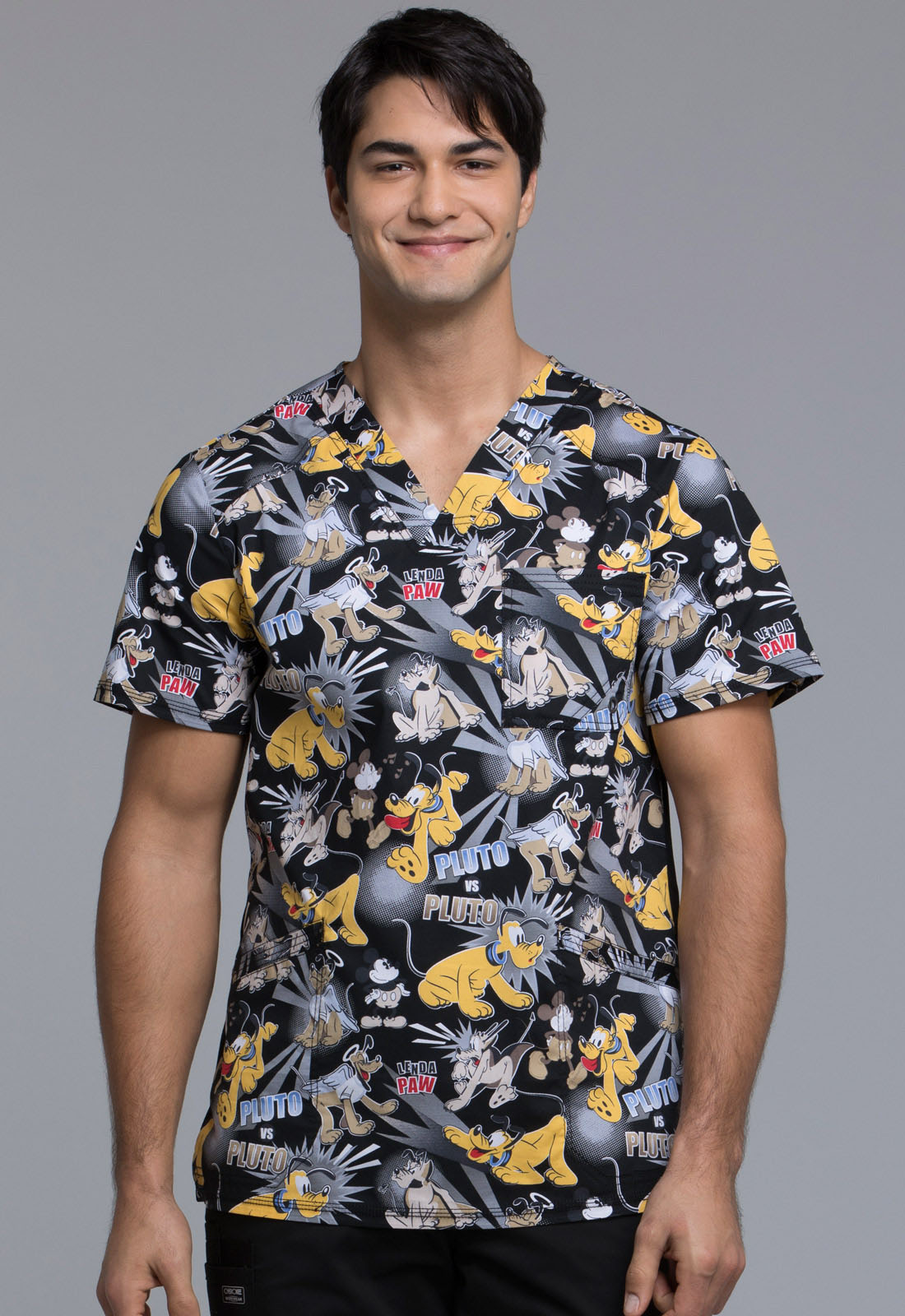 4739ef96cec Licensed Prints Men's V-Neck Top in Pluto vs. Pluto TF675-MKND from ...