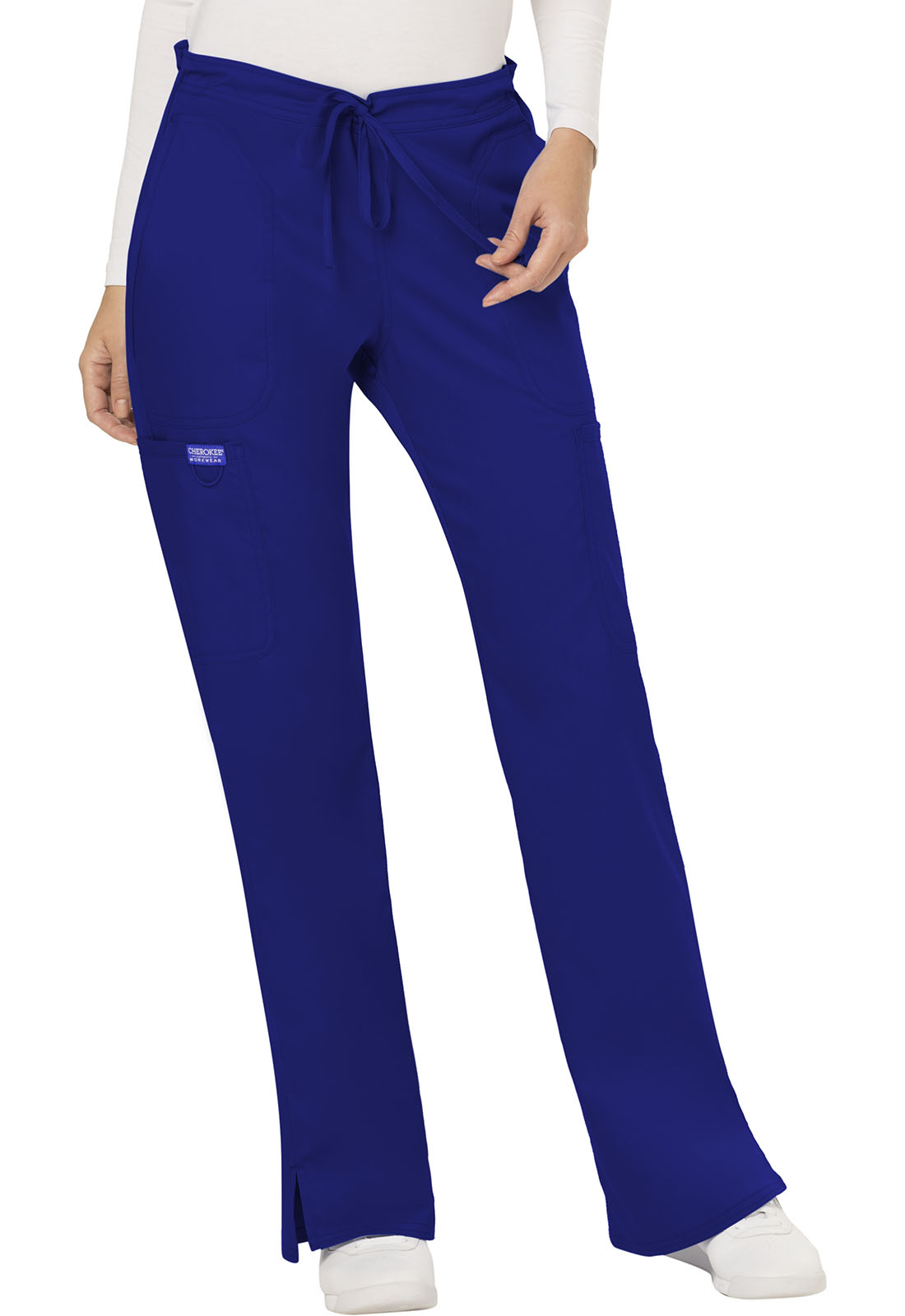 c9b5b90167e WW Revolution Mid Rise Moderate Flare Drawstring Pant in Galaxy Blue ...