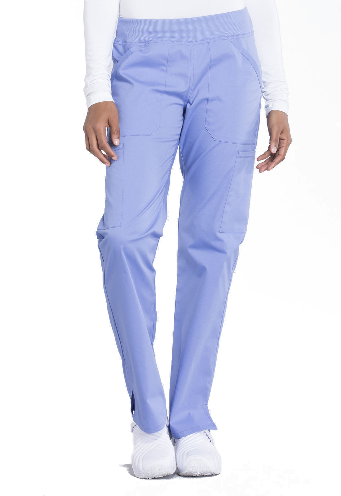 4e20be43945 WW Professionals Mid Rise Straight Leg Pull-on Cargo Pant WW170-CIE ...