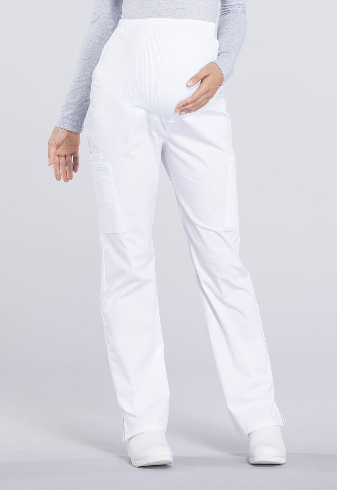 fddd99e122cc5 WW Professionals Maternity Straight Leg Pant in White WW220P-WHT ...