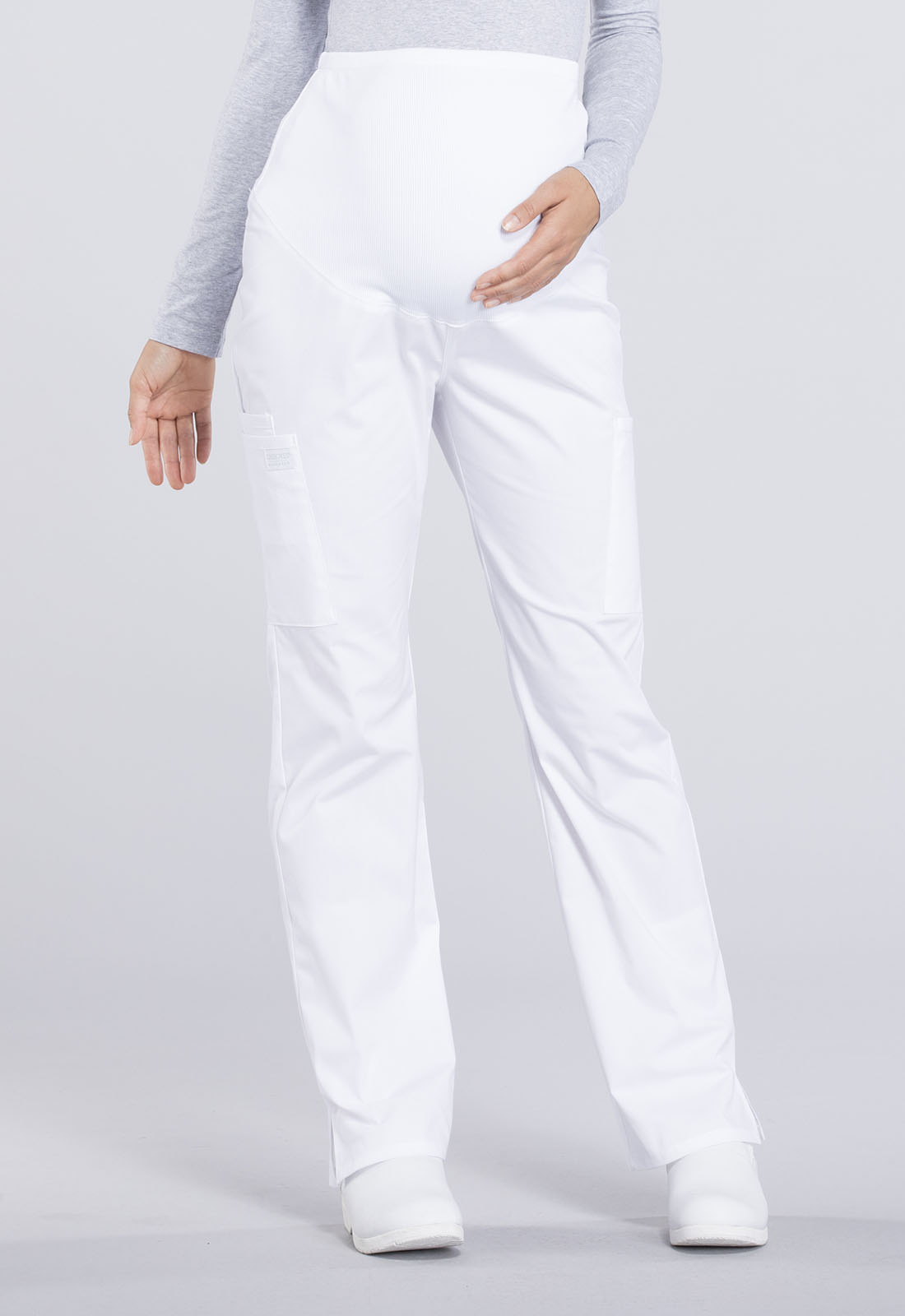 ab5328df2a6 WW Professionals Maternity Straight Leg Pant in White WW220T-WHT ...