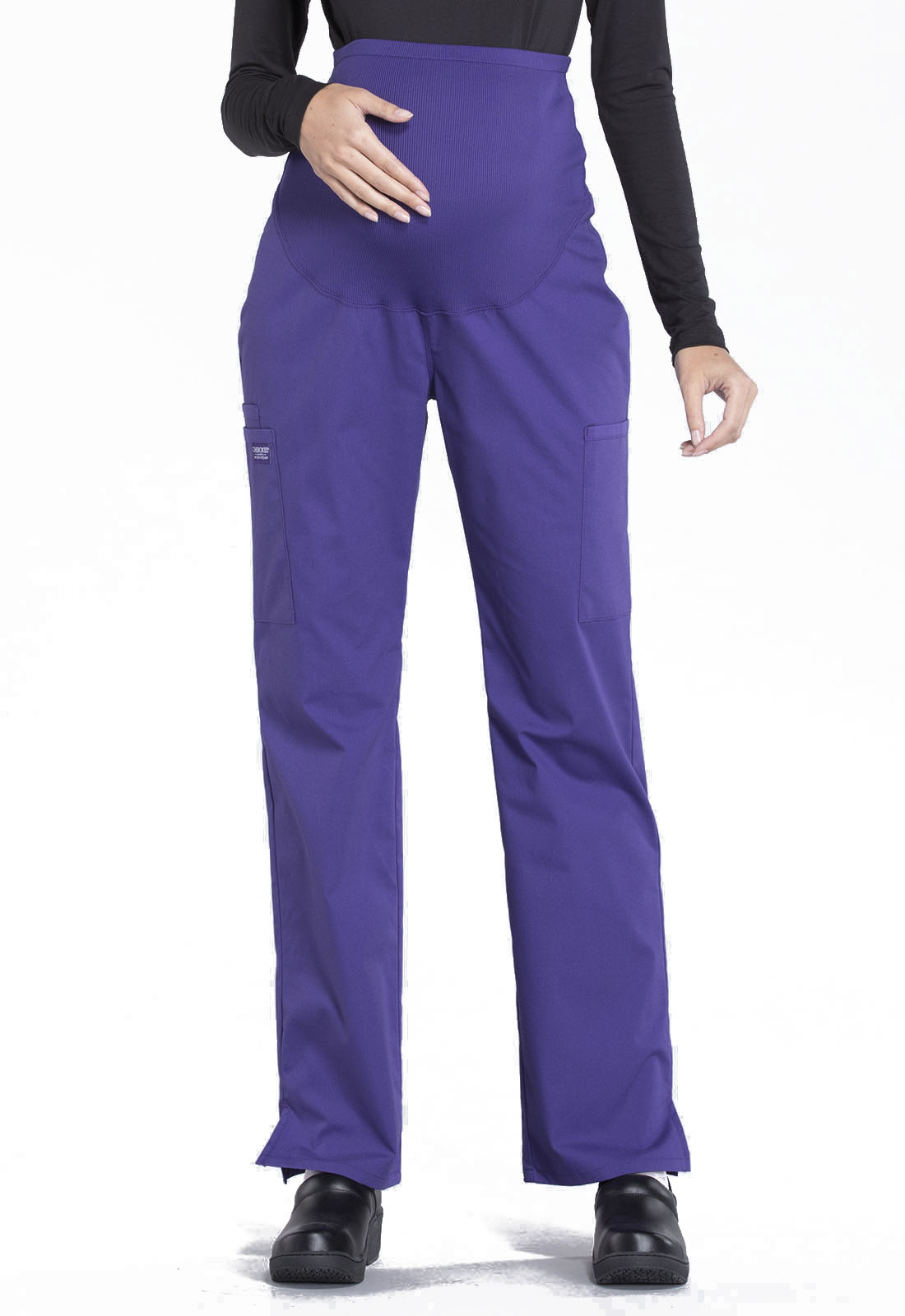 543f2994efeff WW Professionals Maternity Straight Leg Pant in Grape WW220-GRP from ...