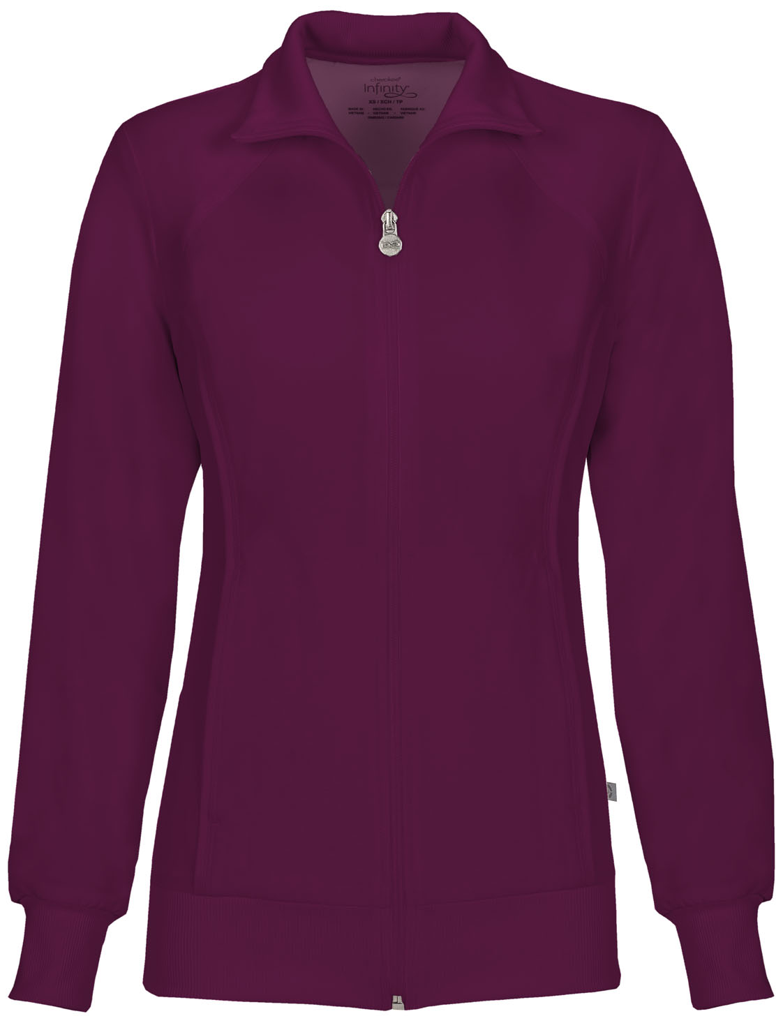 a3085cd78da Infinity Zip Front Warm-Up Jacket in Wine 2391A-WNPS from Cherokee ...