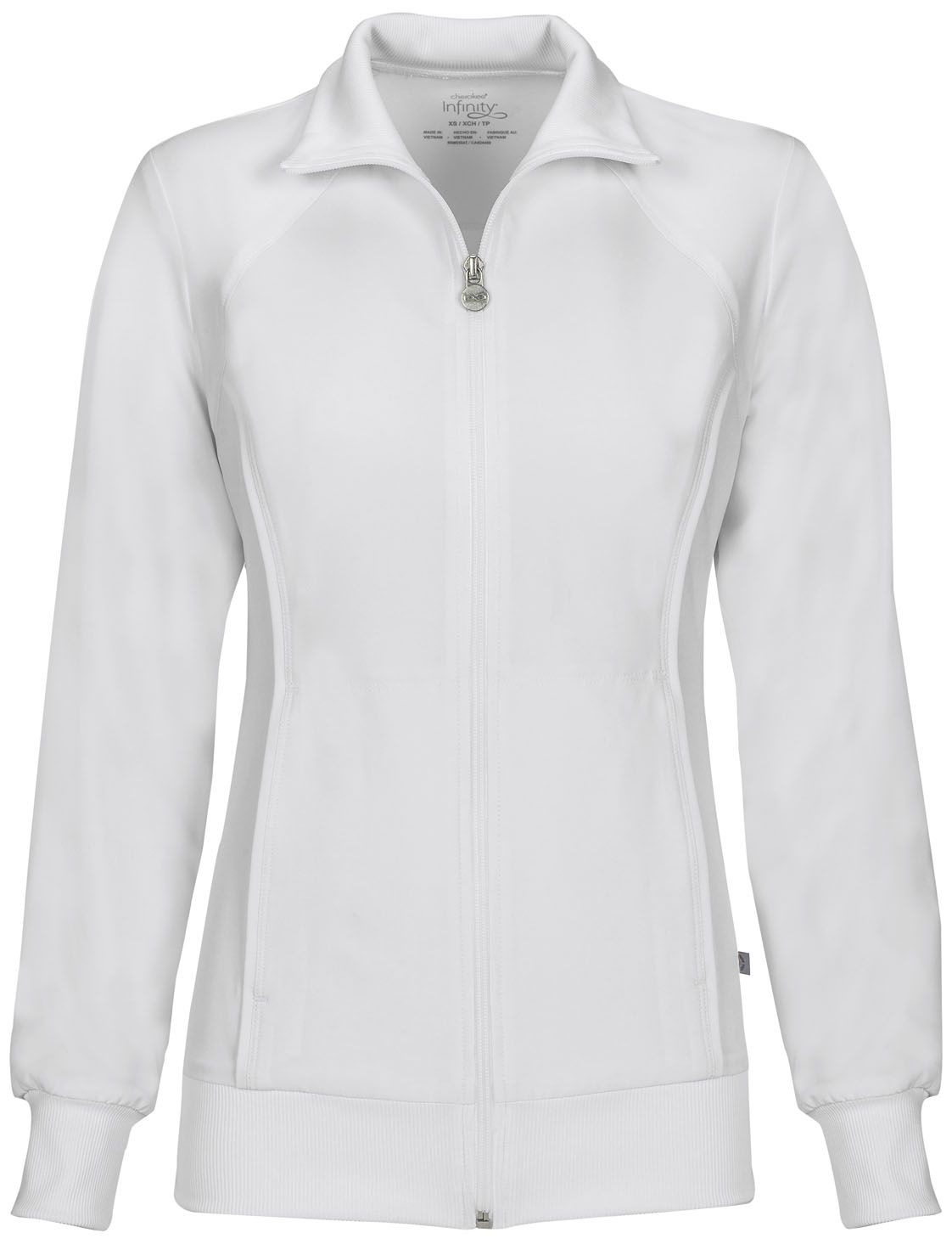 7f6038c6da5 Infinity Zip Front Warm-Up Jacket in White 2391A-WTPS from Scrubs ...