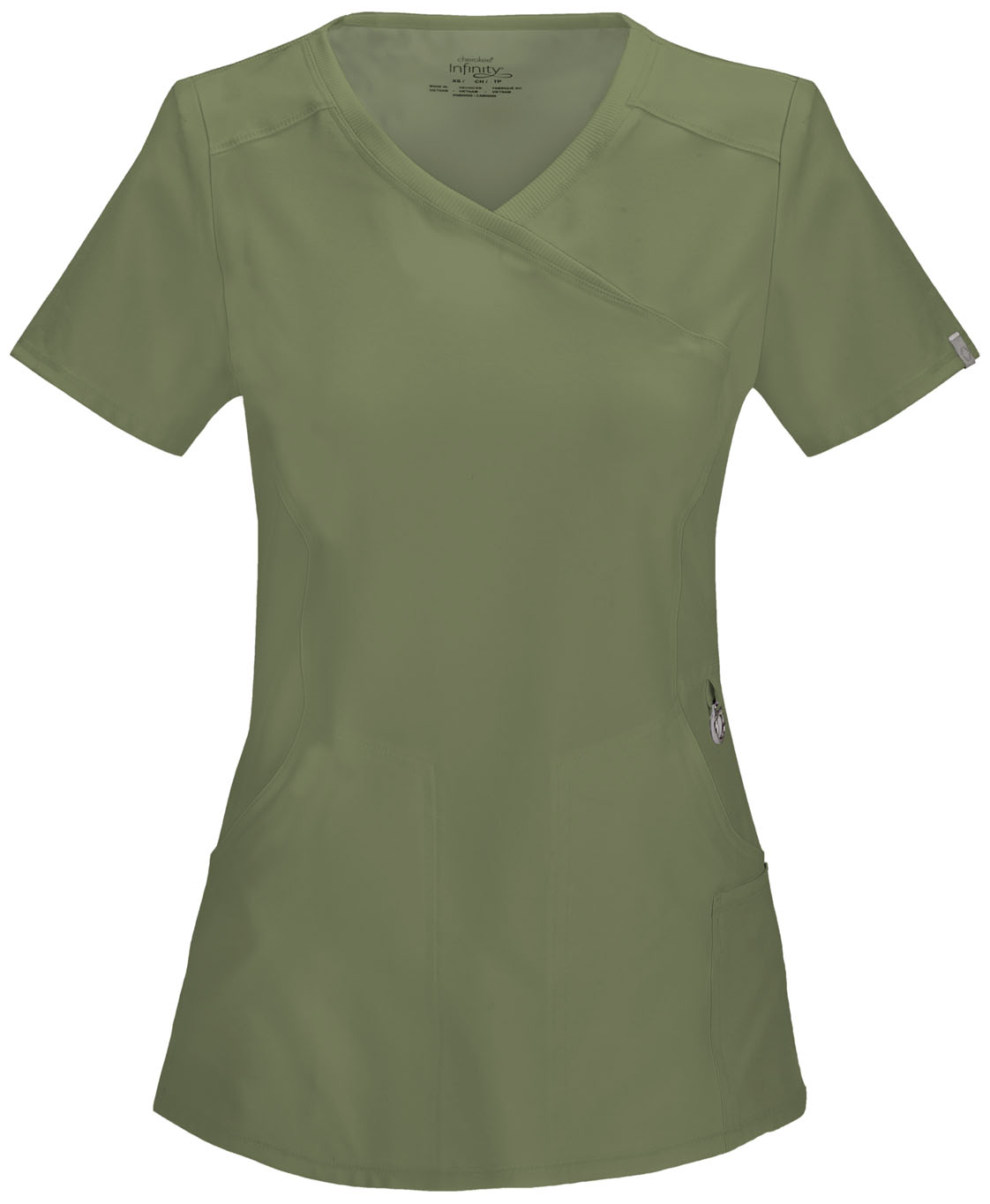0105f95f6a7 Infinity Mock Wrap Top in Olive 2625A-OLPS from Scrubs Express