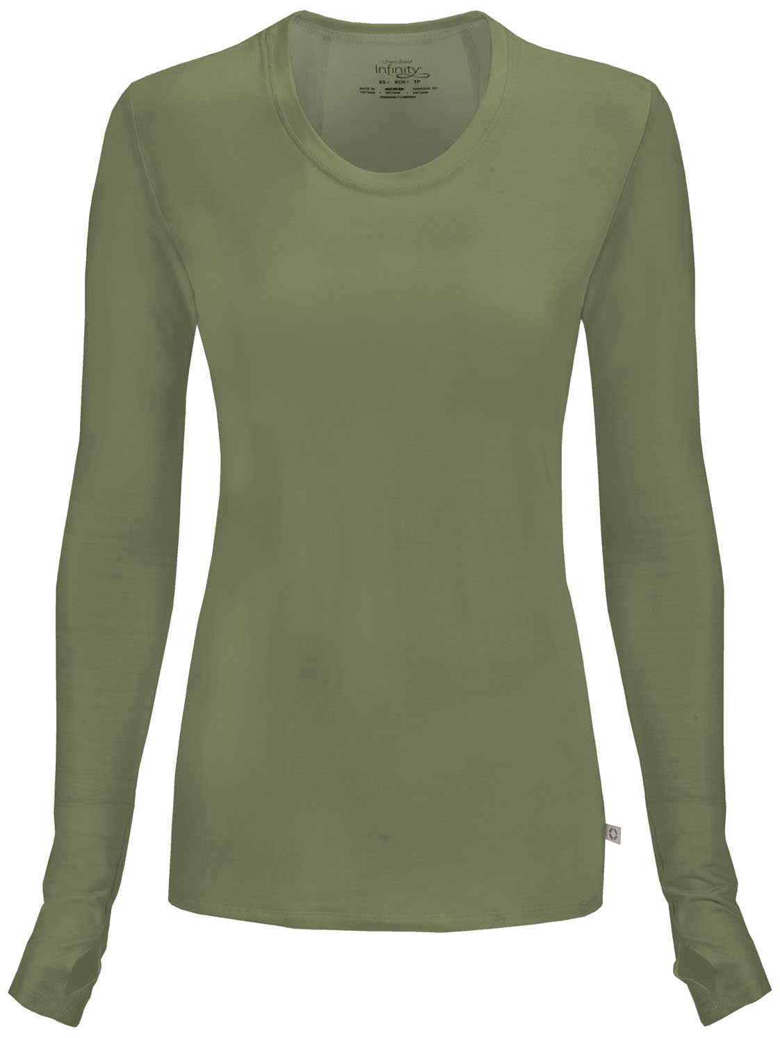 acdd006735c Infinity Long Sleeve Underscrub Knit Tee in Olive 2626A-OLPS from ...