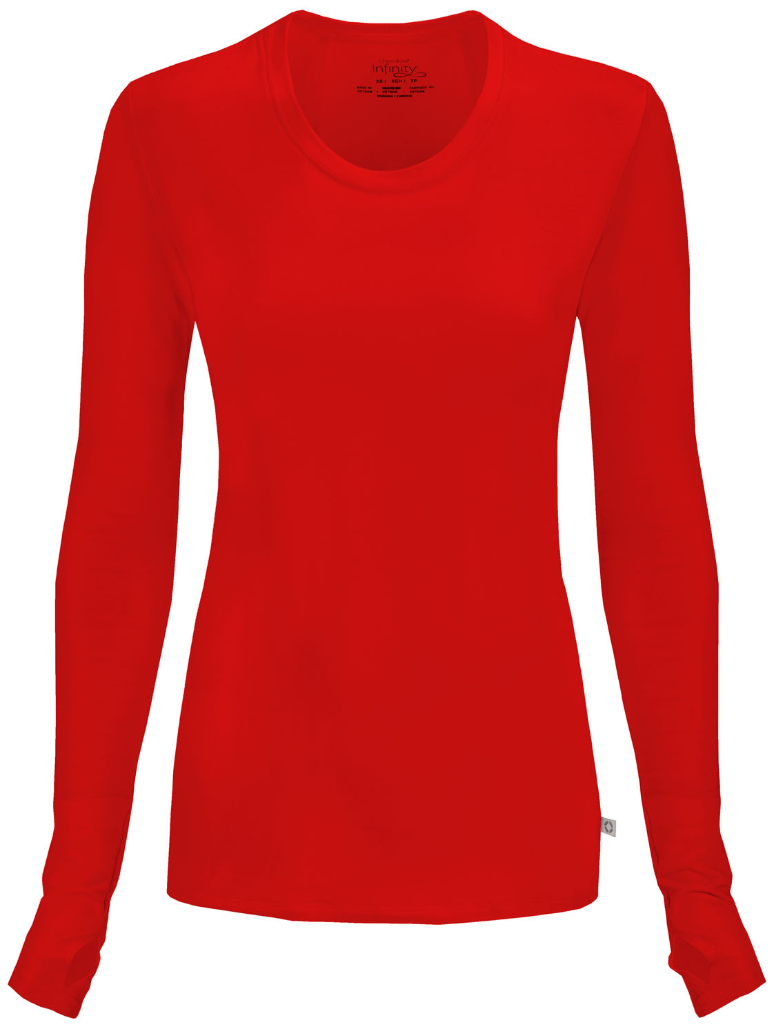 ab43a7129f5 Infinity Long Sleeve Underscrub Knit Tee in Red 2626A-RED from ...