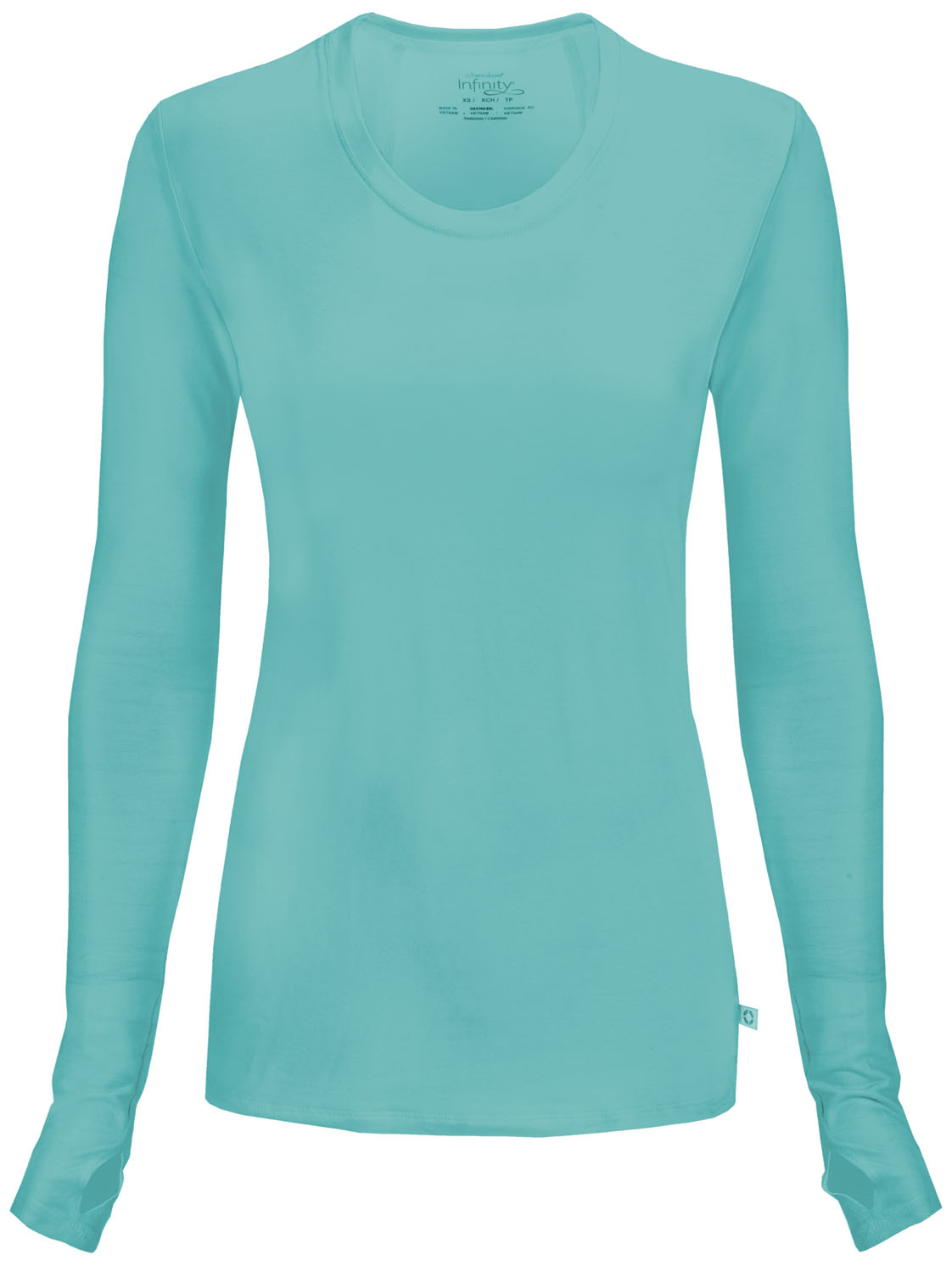 184b91f089d Infinity Long Sleeve Underscrub Knit Tee in Turquoise 2626A-TQCH ...