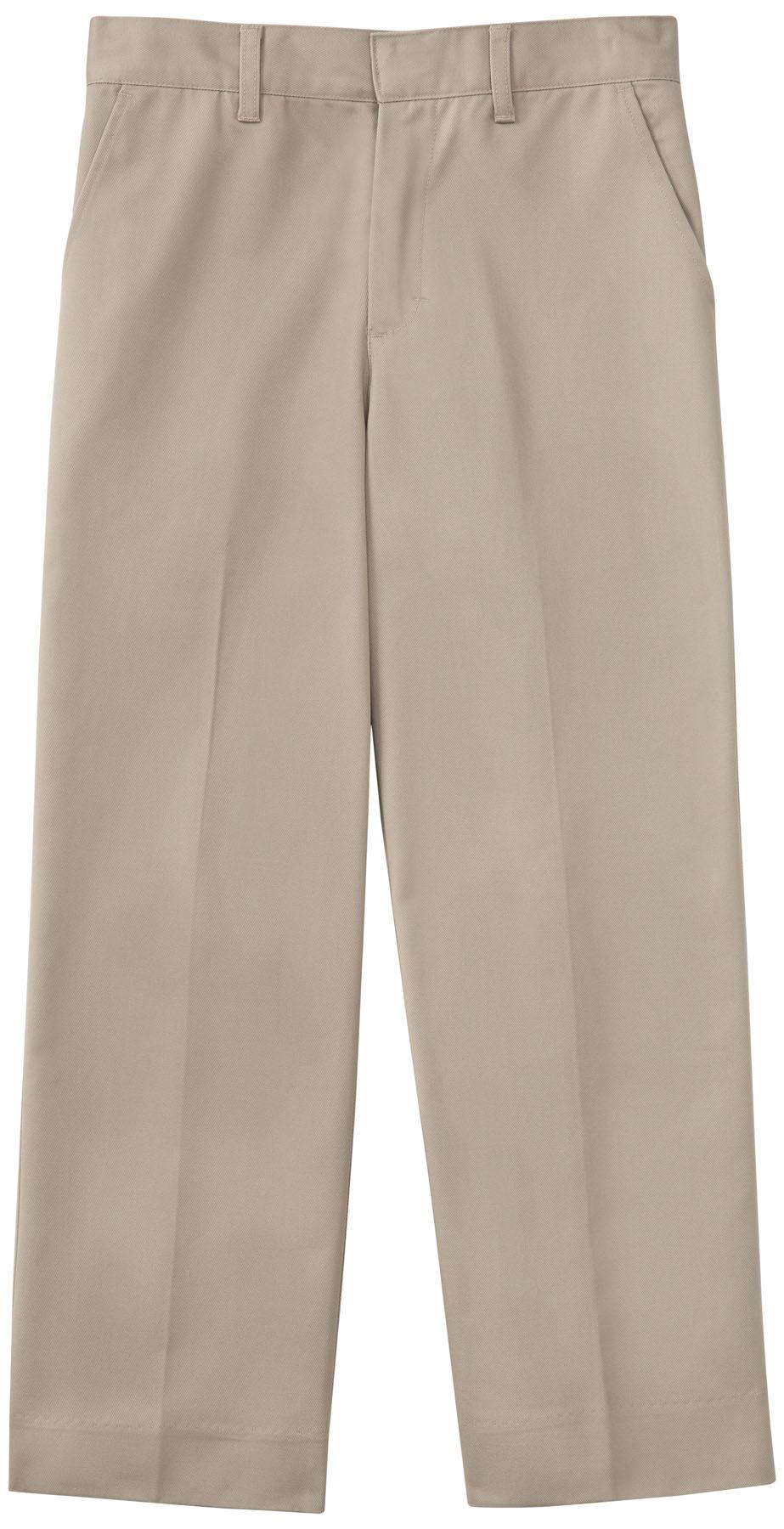 NEW MEN KHAKI DRESS SCHOOL PANTS FLAT FRONT SLACKS  Sizes 30-4 Sizes 30-42