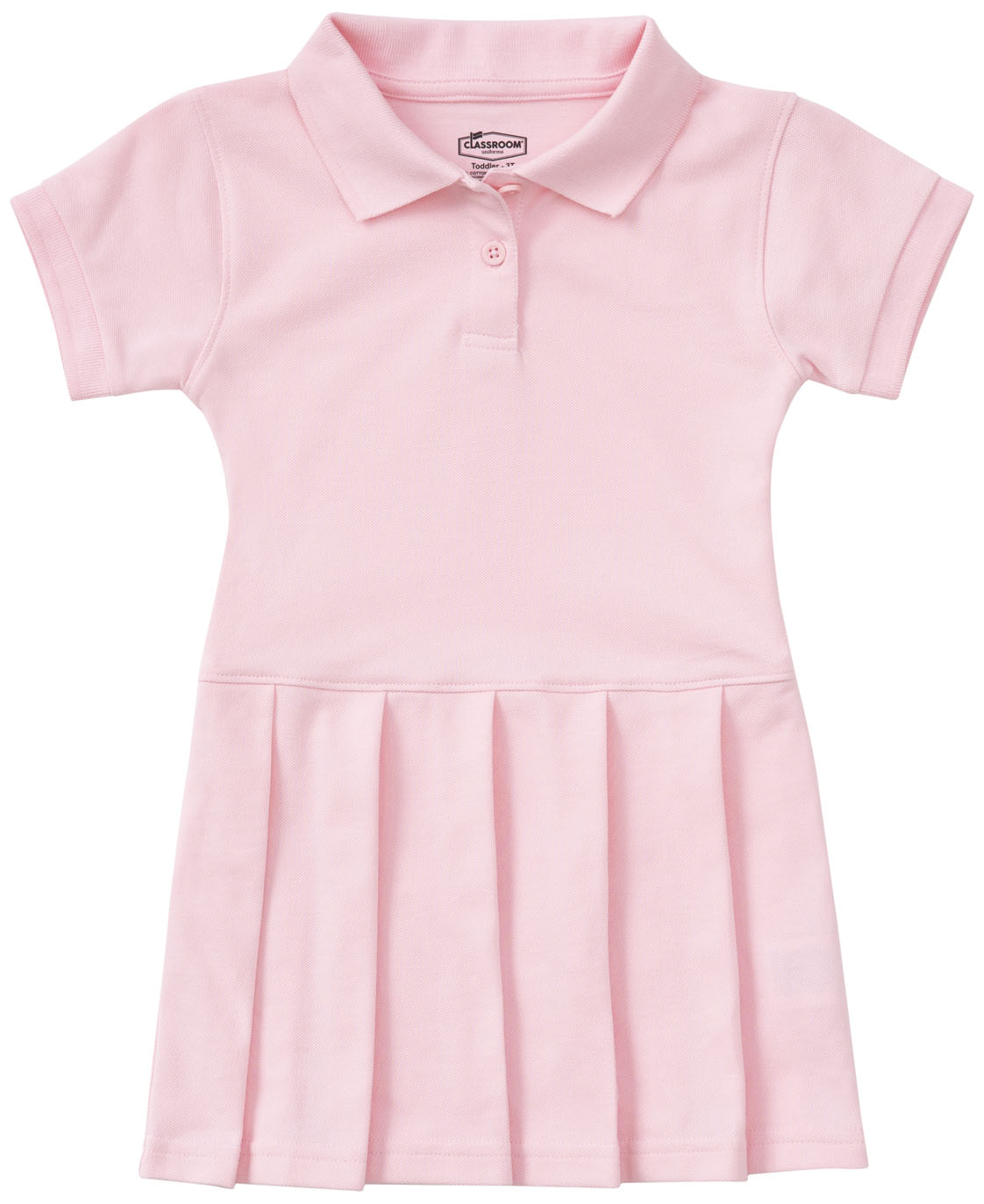 Classroom Toddler Ss Pique Polo Dres In Pink 54120 Pink From