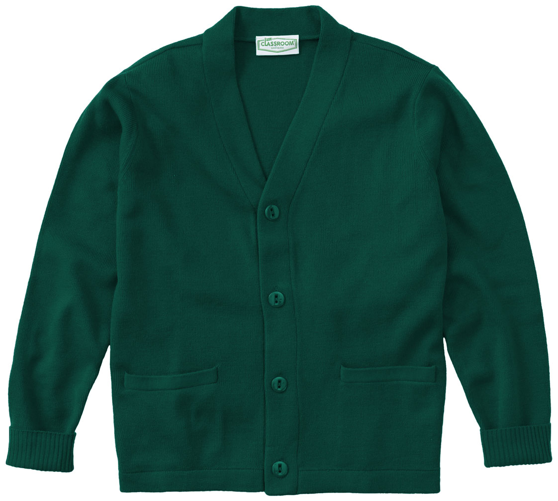 Classroom Adult Unisex Cardigan Sweater 56434-HUN from Cherokee ...