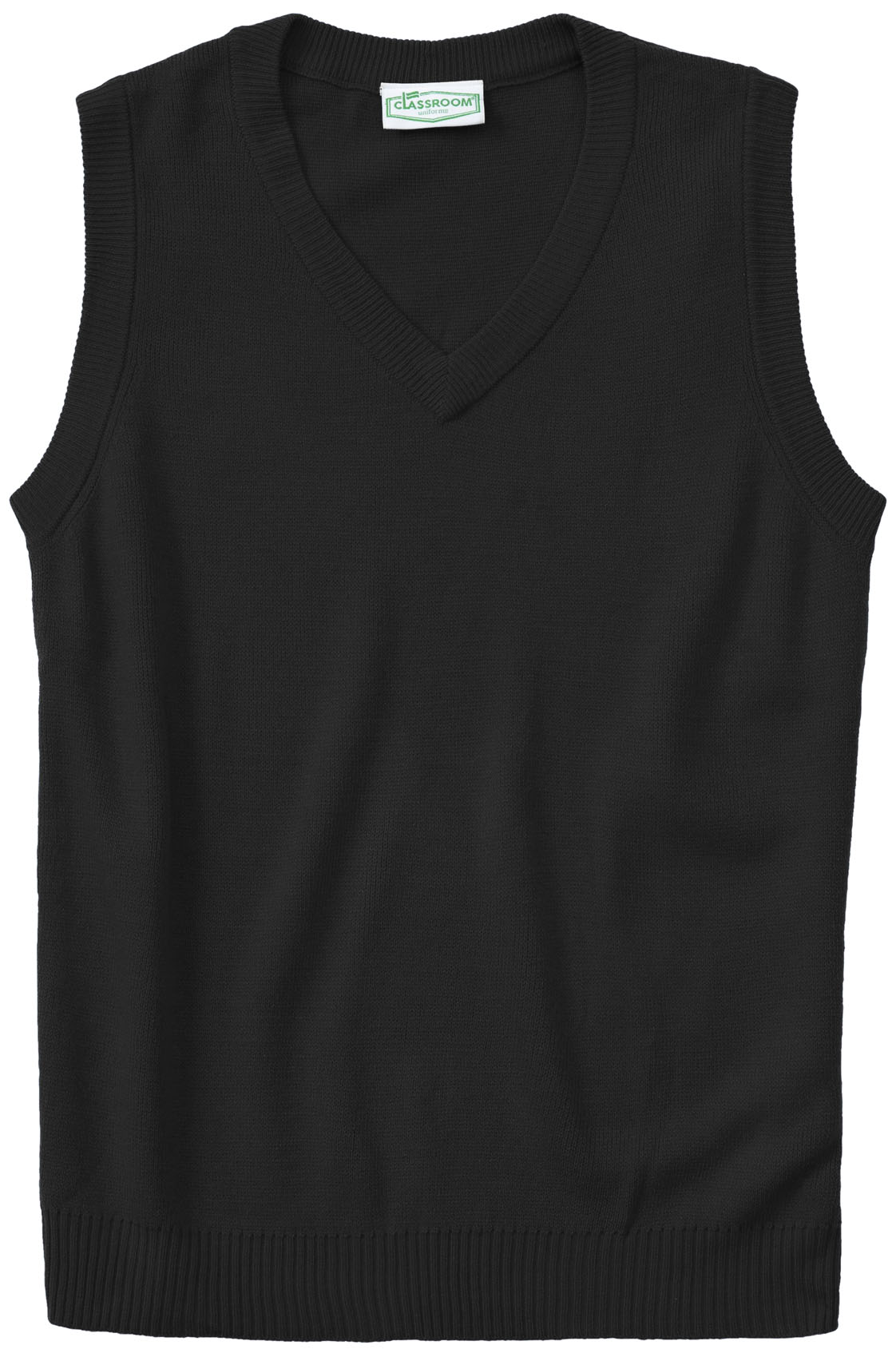 Classroom Youth Unisex V- Neck Sweater Vest 56912-BLK from ...