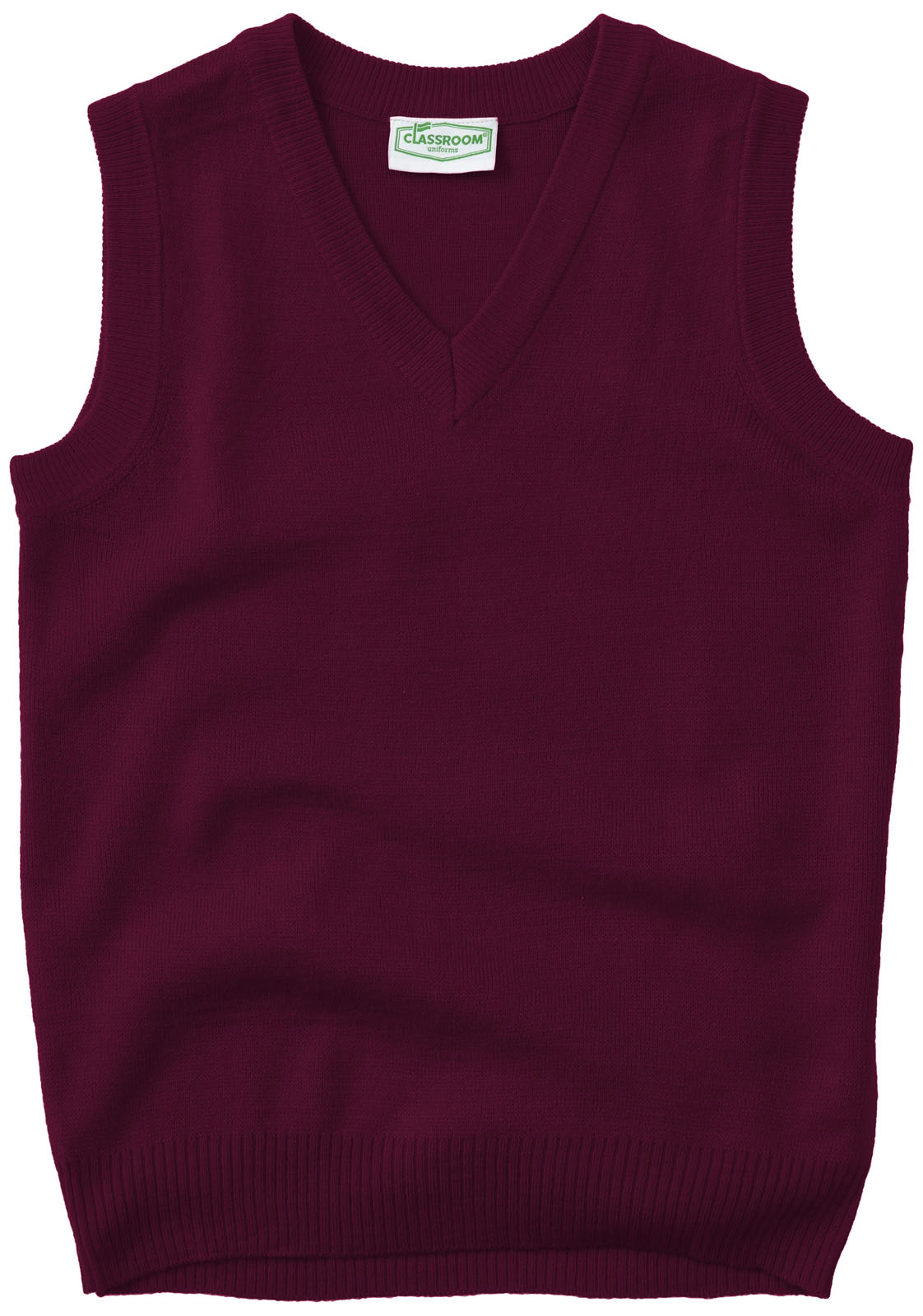 Classroom Adult Unisex V-Neck Sweater Vest 56914-BUR from Cedar ...