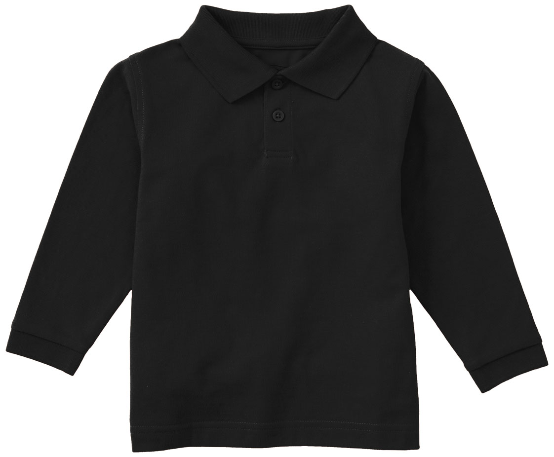 58352 Classroom Uniforms Youth New Long Sleeve Reinforced Shoulder Polo Shirt