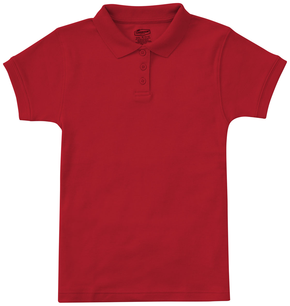d3bab100a Classroom Junior SS Fitted Interlock Polo in Red 58584-RED from ...