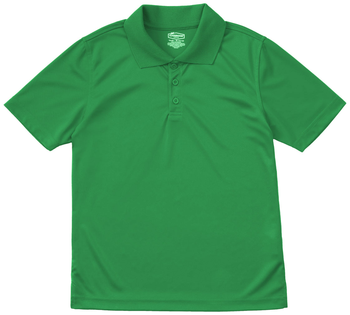 Classroom School Uniforms Mens Moisture-Wicking Polo Shirt