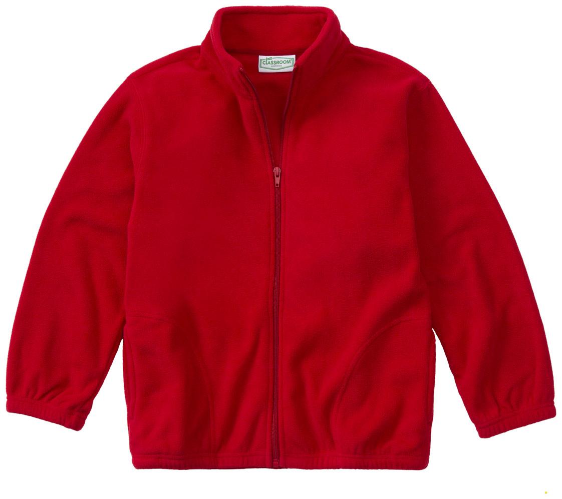 59204 Classroom Uniforms Adult Long Sleeve Dark Navy Polyester Fleece Jacket