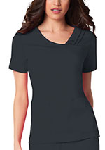 Photo of Crossover V-Neck Pin-Tuck Top