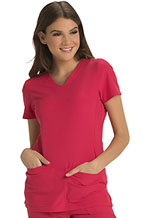 """Photo of """"Pitter-Pat"""" Shaped V-Neck Top"""
