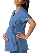 Photo of Maternity Mock Wrap Knit Panel Top