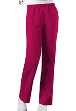 Cherokee Workwear Natural Rise Tapered Leg Pull-On Pant Raspberry (4001-RASW)