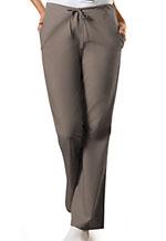 Cherokee Workwear Natural Rise Flare Leg Drawstring Pant Taupe (4101-TAUW)