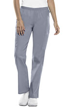 Photo of Mid Rise Straight Leg Elastic Waist Pant